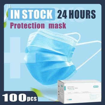 Maska przeciw zanieczyszczeniom 3 Laye maska ochrona przeciwpyłowa maski dla dorosłych jednorazowa elastyczna pętla do uszu jednorazowy filtr pyłowy maska bezpieczeństwa tanie i dobre opinie Chin kontynentalnych Ochrona przed kurzem KF99 Jeden raz Nonwoven mouth dust mask mascarilla 18cm*10cm face mask masks GB T 32610