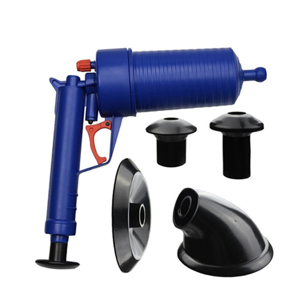 Air Power Drain Blaster Gun High Pressure Powerful Manual Sink Plunger Opener Cleaner Pump For Toilets Showers