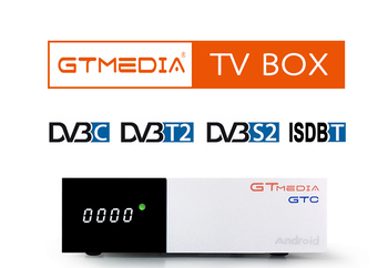 GTMEDIA GTC Android 6.0 TV BOX DVB-S2/T2/Cable/ISDBT Amlogic S905D 2GB RAM 16GB ROM HD 1080P Set Top Box For Family TV Enjoy mecool kiii pro dvb s2 dvb t2 decoder android 7 1 tv box 3gb 16gb amlogic s912 octa core k3 pro 4k combo newcamd hybrid tv box