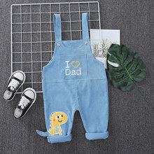 2020 Children Spring Autumn corduroy Clothes Baby Boys Girls Bib Pants One Piece Overalls Infant Kids Toddler Casual Clothing