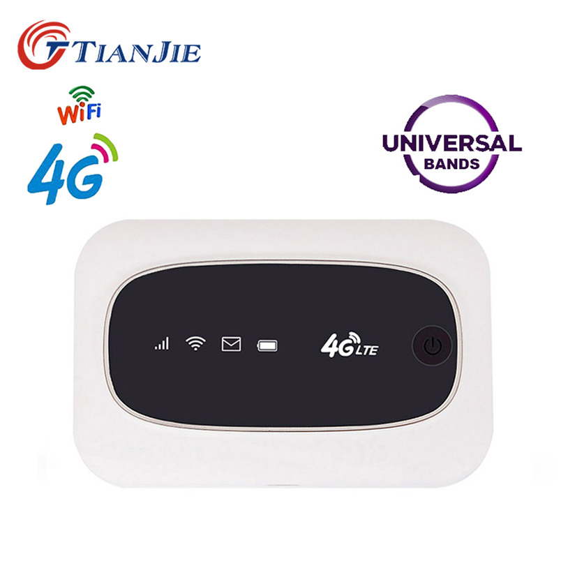 TianJie 4G Universal Wifi Router Mobile Hotspot Mifi Unlock Modem FDD TDD 150Mbps Modem Wireless 3G 4G Broadband For All Sim Use