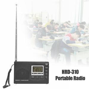 Image 2 - HRD 310ラジオfm mw swデジタルアラーム時計fm無線レシーバw/イヤホン音楽プレーヤースピーカー