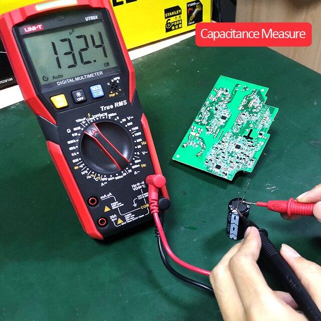 UNI-T UT89XD Digital Multimeter True RMS Tester AC DC Voltmeter Ammeter 1000V 20A Capacitance Frequency Resistance LED Measure 3