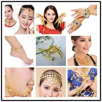 belly dance coin anklet Indian dance Ankle chain Latin dancing anklets foot Headdress ornaments Dance costume jewelry props image