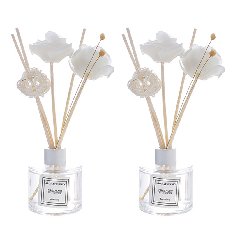2 Bottle 50Ml Home Fragrance Oil Rattan Reed Diffuser Room Perfume Aroma Essential Oil   Osmanthus & Lavender|Reed Diffuser Oils| |  - title=