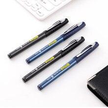 Caneta Gel 1.0 milímetros Preto/Refil de Tinta Azul Gel Canetas De Tinta de Negócios Escrita Escola Escritório Fornecimentos caneta Neutro 3 Pçs/lote