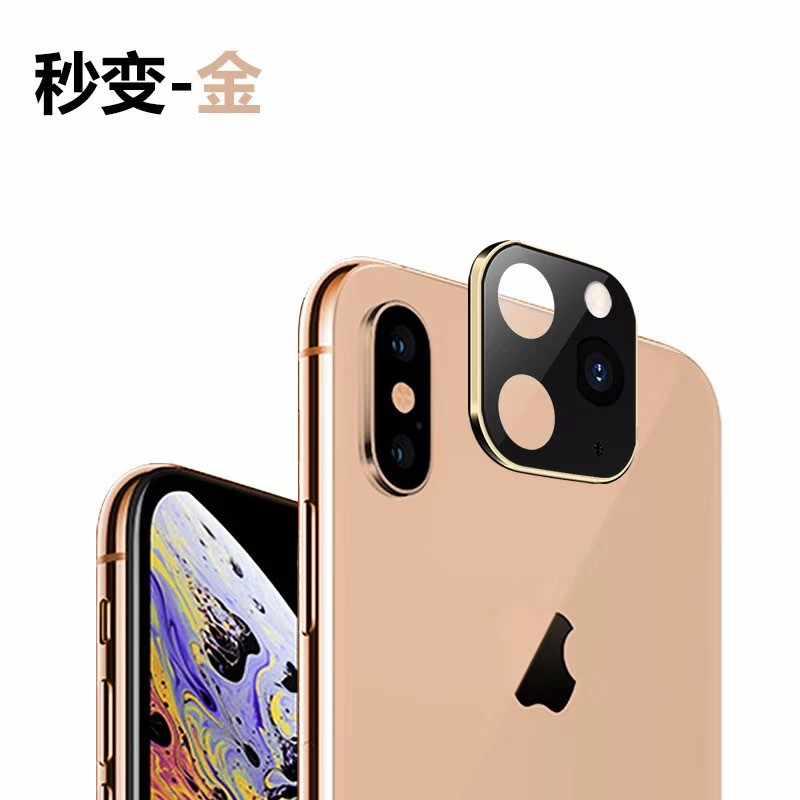מזג זכוכית עבור iPhone X XS מקס לשנות כדי iPhone 11 פרו מקסימום כיסוי אחורי מצלמה עדשת לפנות iPhone 11 פרו מקסימום מסך מגן
