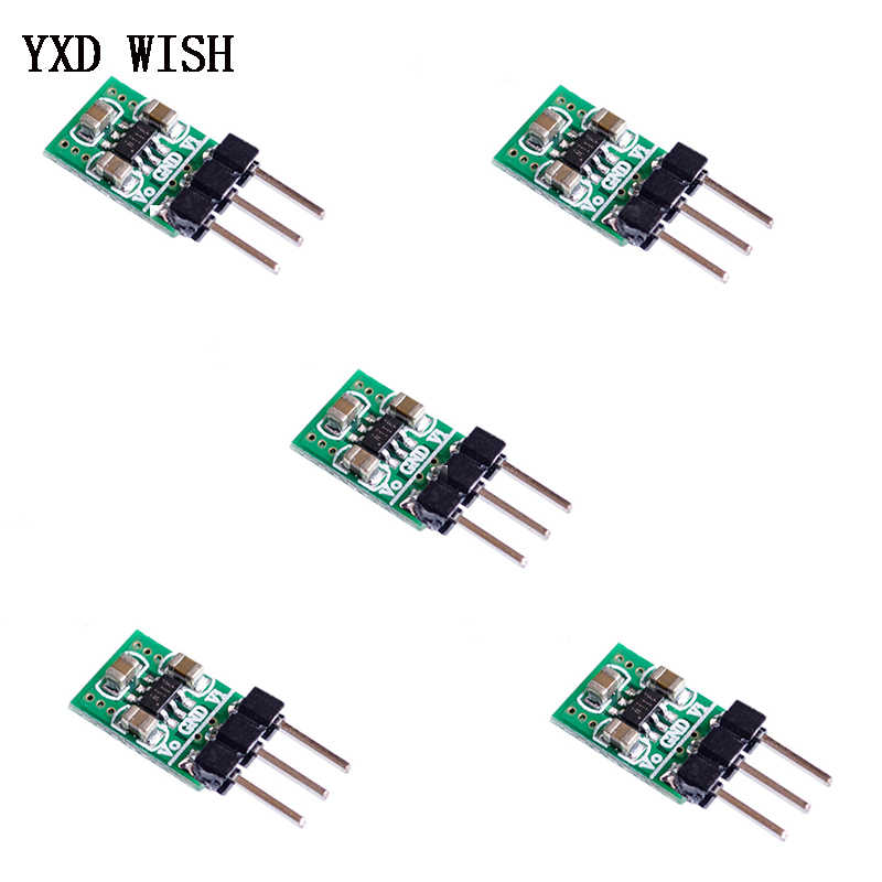 5 Pcs Mini 1.8V 3V 3.7V 5V Naar 3.3V Dc Dc Boost & Buck Power supply Module Lage Noise Gereglementeerde Lading Pomp Dc/Dc Voltage Converter