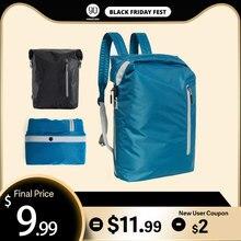 NINETYGO 90FUN Leichte Rucksack Faltbare Taschen Sport Reise Wasserdicht Casual Daypack für Frauen Männer 20L Blau/Schwarz