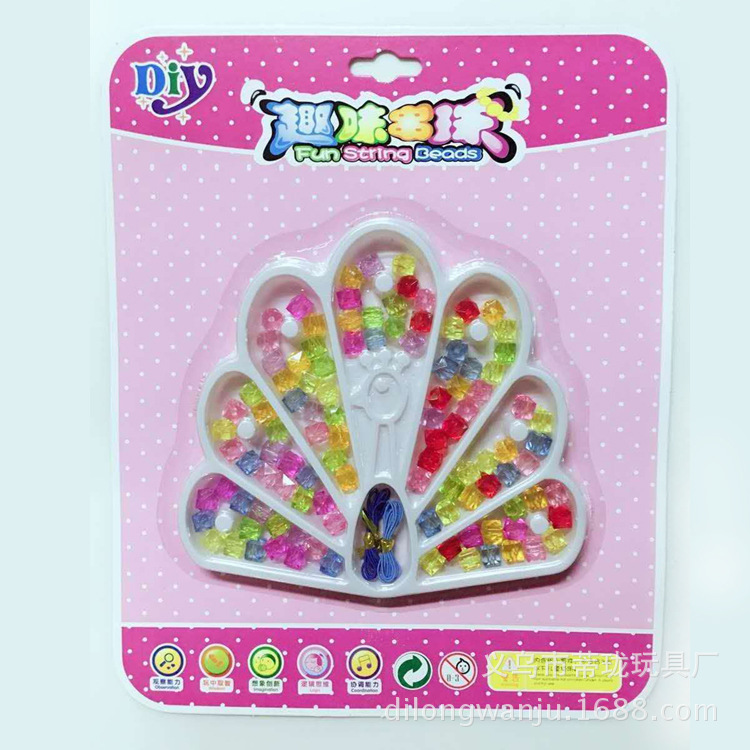 Children'S Educational Fun Beaded Bracelet Toy DIY Children Beaded Bracelet Material Threading Bracelets Necklace