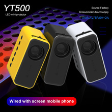 YT500 Mini Projector Home Theater Video Beamer Supports 1080P Usb Audio Portable Home Media Player Built-in Composite membrane