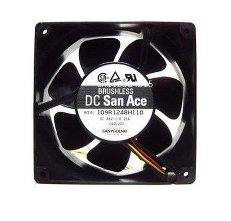 Free Shipping For DENKI SAN ACE 109R1248H1011 12038 48V 0.15A 12CM ATX Cooling Fan