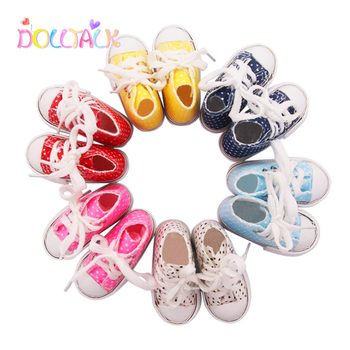 Doll Unisex Shoes 2020 New Style Spotted 7.5cm Canvas For 1/3 BJD Fashion Mini Russian DIY