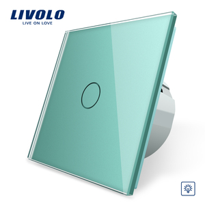 Image 2 - Livolo EU Standard Wall Light Touch Switch,Wall home switch,Crystal Glass Switch Panel, 220 250V,corss,dimmer,wireless,curtain