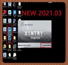 Versão mais recente 2021.3 mb estrela xentry das software de diagnóstico para c4/c5/c6 com 320gb hdd ou 360gb ssd xentry software