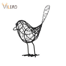 VILEAD Iron Bird Figurines Nordic Abstract Statue Miniatures Animal  Home Decoration Accessories Interior Living Room Desk Decor