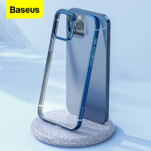 Baseus Clear Phone Case For iPhone 12 Pro Max 12Max Transparent Plating Case Coque Thin Soft TPU Back Cover For iPhone 12Pro Max