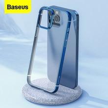 Coque de téléphone transparente Baseus pour iPhone 12 Pro Max 12Max Coque de placage transparente mince Coque arrière souple pour iPhone 12Pro Max