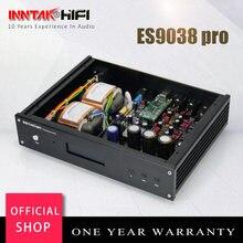 Finalizada hi-fi es9038 es9038pro + amanero usb dac decodificador com suporte de controle remoto 32bit 384k dsd dop