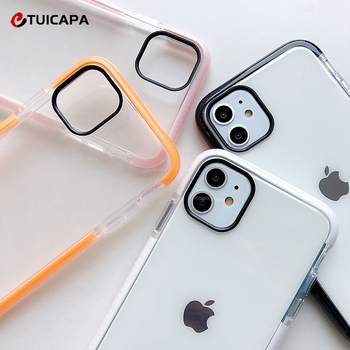 Shockproof Bumper Case For iPhone 11 6 6S 7 8 Plus 7Plus 8Plus X XR XS Max Fashion Soft TPU Clear Phone Cases iphone7 Back Cover image