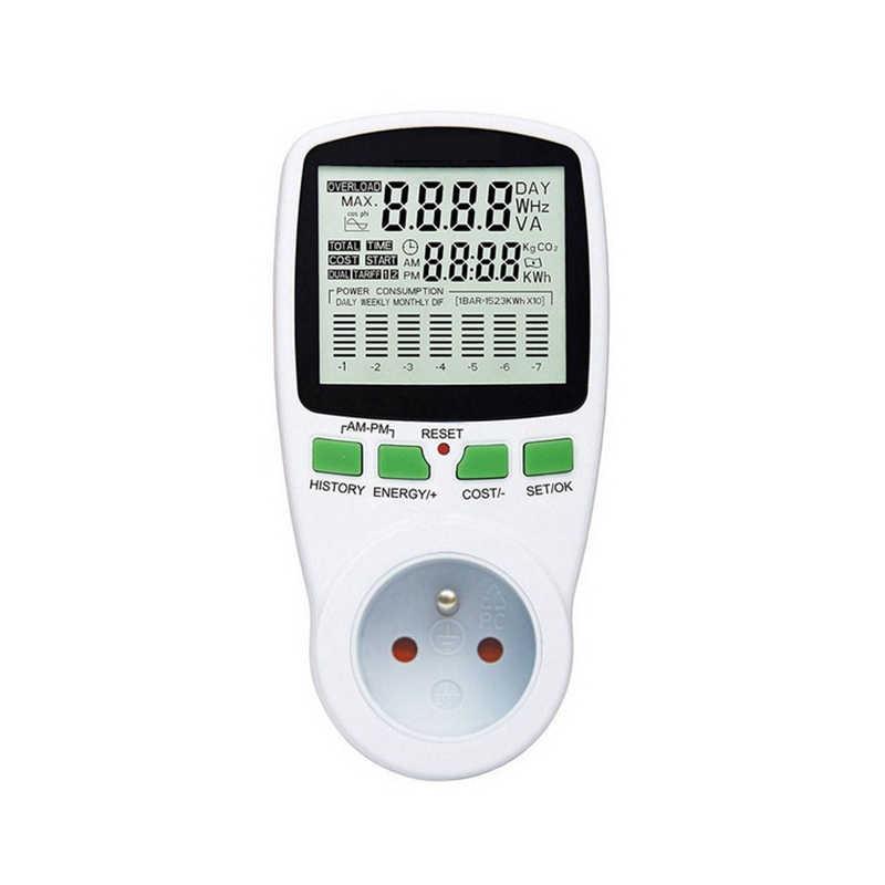 Compteur d'énergie numérique LCD wattmètre puissance électrique Kwh compteur d'énergie EU français US UK AU sortie de mesure analyseur d'énergie