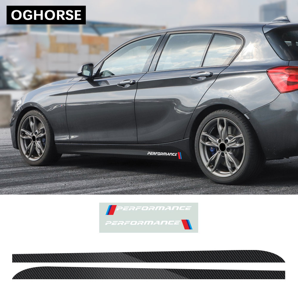 M Performance Car Door Side Stripe Sill Skirt Sticker Decal M SPORT Style For BMW 1 Series F20 F21 118i 120i 125i 128i 135i
