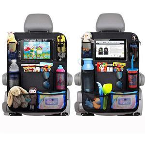 Image 3 - รถ Backseat Organizer Kick Mats ที่นั่งป้องกันกลับกับกระเป๋าเก็บที่ชัดเจนสำหรับของเล่นเด็กขวดเครื่องดื่มยานพาหนะอุปกรณ์เสริม