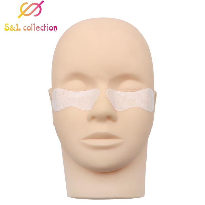Прямая поставка, 50 пар, подушечки для ресниц, для наращивания под глазами, гель для салона, без ворса, патчи, маска для глаз, инструмент для макияжа