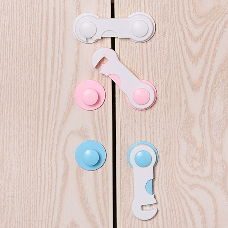 5pcs/lot Multi-function Child Baby Safety Lock Cupboard Cabinet Door Drawer Safety Locks Children Security Protector