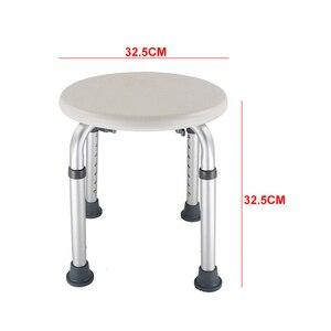 Image 3 - אמבטיה גובה מתכוונן ילדים ריהוט מקלחת שרפרף קל נקי עגול כיסא מושב החלקה נכים אסלת בית מבוגר הריון