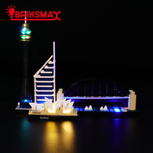 BriksMax Led Light Up Kit For Architecture Sydney Building Blocks Compatible With 21032 (NOT Include Model)
