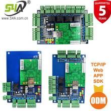 เครือข่ายสี่ประตูAccess Controlแผงบอร์ดซอฟต์แวร์การสื่อสารโปรโตคอลTCP/IP Board Wiegandสำหรับ4ประตู