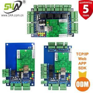 Image 1 - Dört kapı ağ erişim kontrol paneli kurulu yazılım ile iletişim protokolü tcp/ip kartı Wiegand okuyucu 4 kapı kullanımı