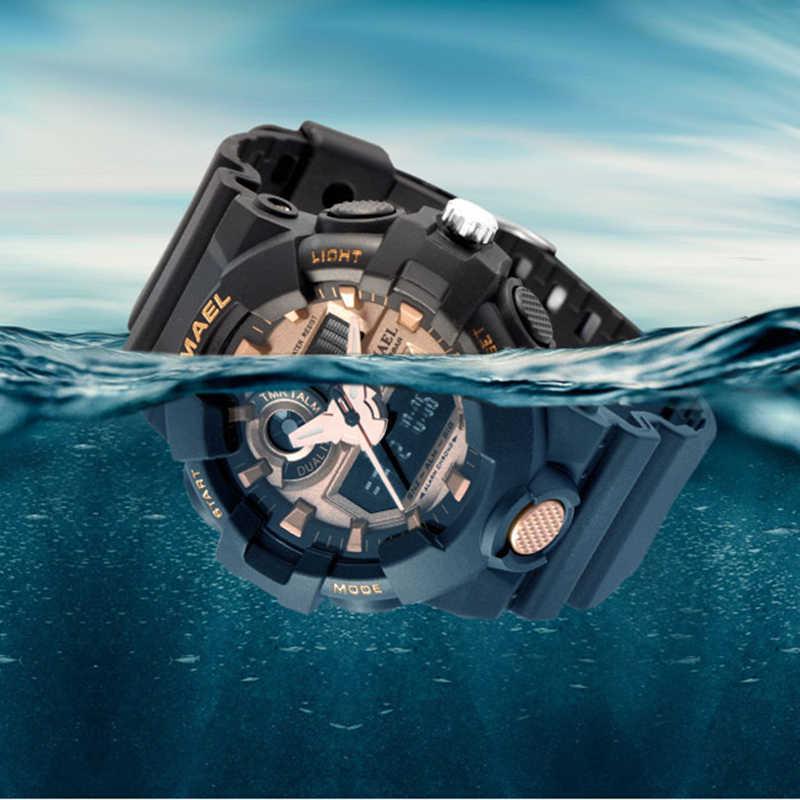 Relogio masculino Analógico Digital LED Watch Smael Marca de Luxo dos homens Relógio de Quartzo Esporte Relógios Militares Dos Homens Ao Ar Livre À Prova D' Água