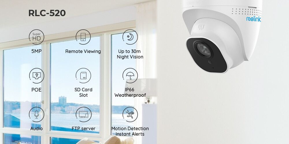 Reolink PoE 5MP 2560*1920P Audio Dome HD Security Camera 7