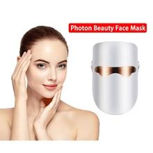 Belleza facial máscara led beleza rejuvenescimento da pele fóton máscara facial led terapia anti rugas acne apertar ferramenta de cuidados com a pele