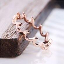 Huitan модное женское кольцо с морскими волнами лаконичный дизайн