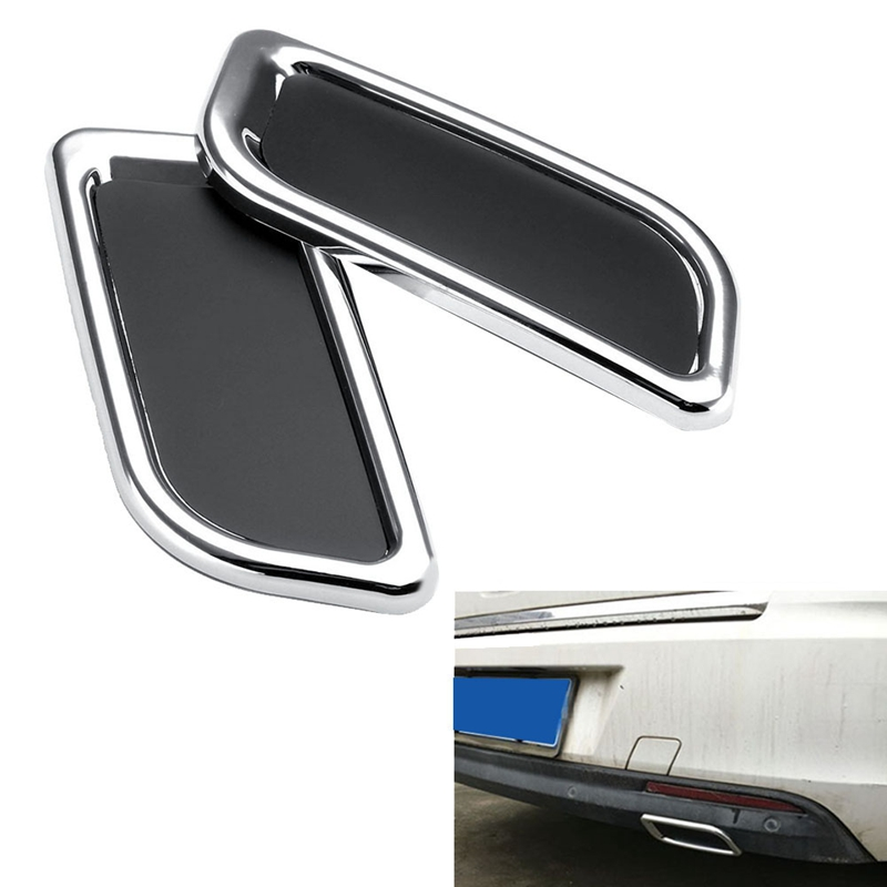 2Pcs Car Rear Bumper Exhaust Pipe Tail Throat Sticker Decoration for Citroen C4 C5 Elysee