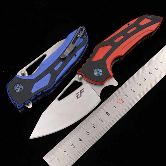 Eafengrow Milan Derby 100% D2 steel Blade ball bearing G10 Handle Tactical Camping Pocket Hunting Outdoor EDC Tool Folding Knife