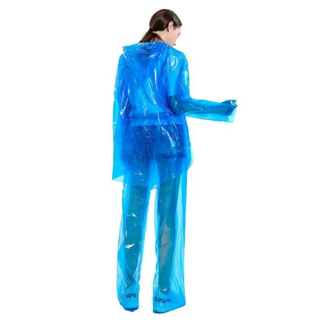 1/5/10/20/30pcs Disposable Split Raincoat Rain Pants Suit Dustproof Waterproof Anti-dirty Disposable Full Protective Raincoat 4