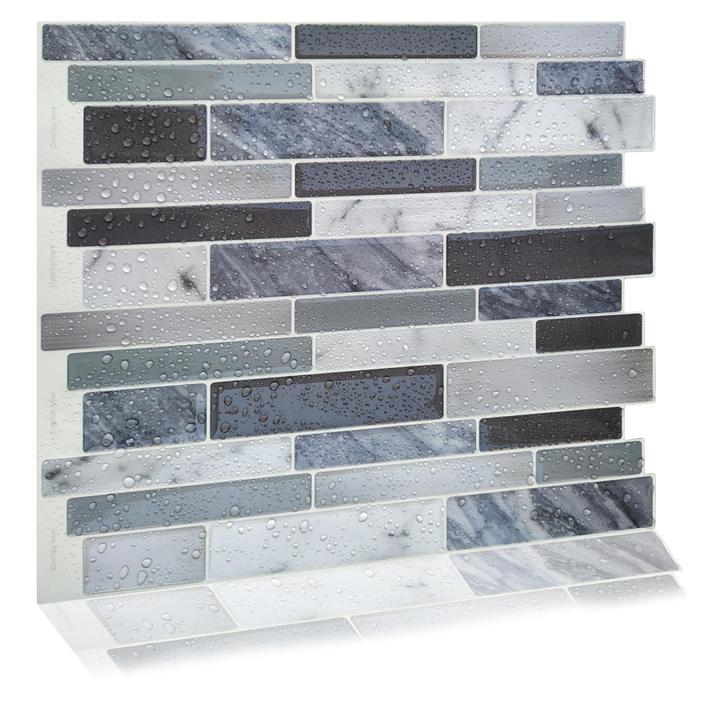- Marble Mosaic Peel And Stick Self Adhesive DIY Bathroom Wall
