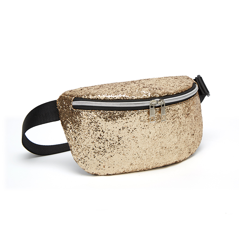 LILEN Sequins Women's Shoulder Bags 2019 Summer New Shell Type Fashion Chest Bag Large Capacity Outdoor Casual Waist Packs