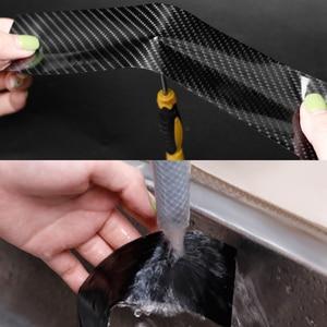 Image 5 - 5D 車のステッカー炭素繊維ビニール 3D ステッカー防水フィルム自動車ドアバンパープロテクター室内装飾アクセサリー