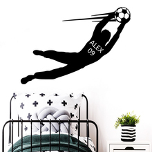 New Design Football Custom name Removable Soccer Wall Stickers For Boys Room Wallpaper Art Decals Kids Bedroom vinilo pared