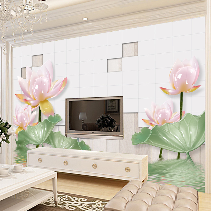 3D Jade Relief Chinese Style Wallpaper Mural Living Room Television Background Wall Mural Seamless Wall Cloth Sofa TV Wall