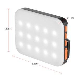 Image 4 - Andoer LY 01 RGB LED Fill Light Photography Lamp Multi functional Superbright 3200K 6500K Built in Battery Black