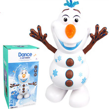цена на Fever 2 Snowman Olaf action figure with Led Music Flashlight Electric Action Figure Model Kids Toy for Children Christmas Gift