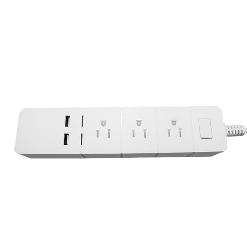 Multiprise WiFi prise intelligente 3 AC 2USB UK prise, WIFI APP prise de contrôle à distance avec 1.8m rallonge interrupteur indépendant