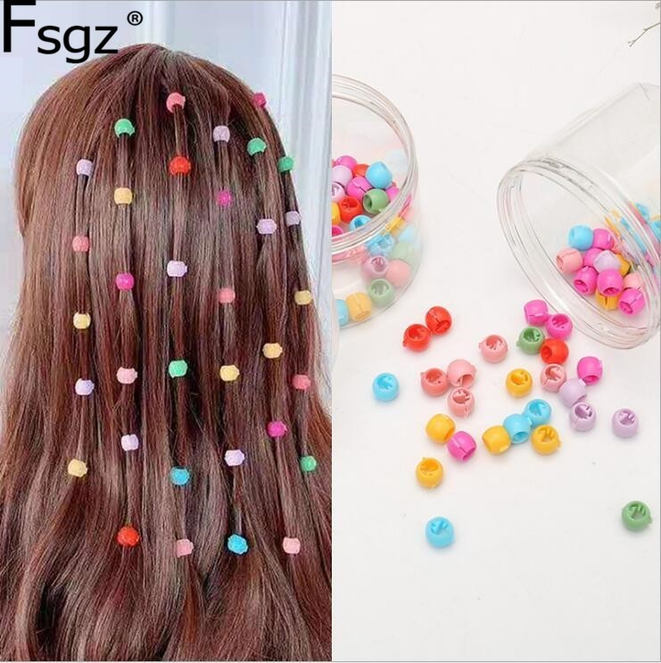 80 PCS Mini Hair Claw Clips For Women Girls Cute Candy Colors Plastic Hairpins Hair Braids Maker Beads Headwear Hair Accessories 1