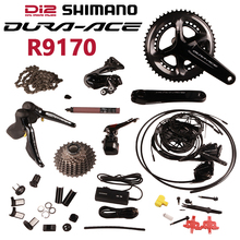 Shimano Dura ace Di2 R9170 Electric Parts Road bike 22s Groupset Hydraulic Disc Brake   Flat Mount   2x11 speed